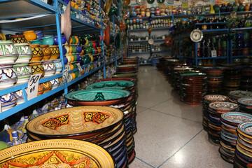 Clay jars in clay shop
