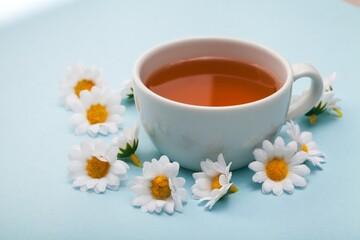 Tea and chamomile.