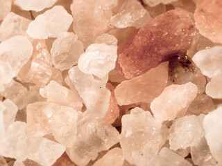 Pink rock salt crystals