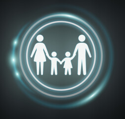 3D rendering family icon