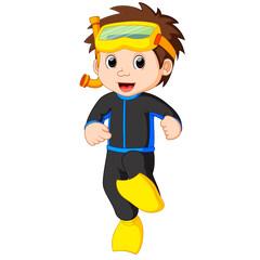 diver boy cartoon