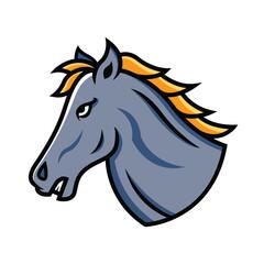 Mustang head mascot
