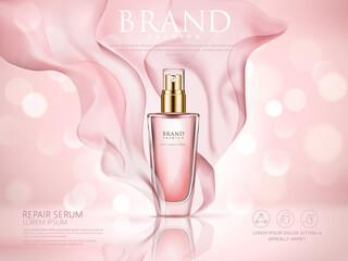 repair serum ad pink