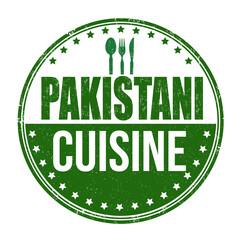 Pakistani cuisine sign or stamp