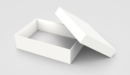 tilt opened paper box