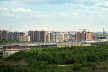 The residential district of St. Petersburg.
