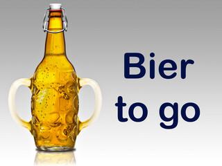 Bier to go, Maßkrug mit Henkel und Verschluß