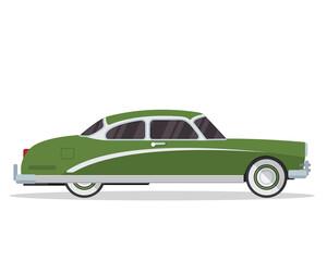 Vintage Classic Car Illustration Logo