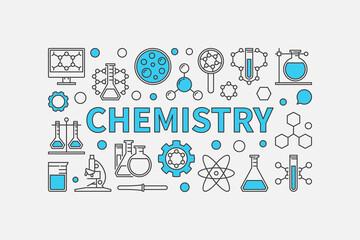 Chemistry creative modern background