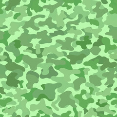 Camouflage seamless pattern. Light green background
