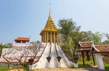 SAMUT PRAKAN, THAILAND, MARCH 2017 - The Footprint of the Lord Buddha, Saraburi, Ancient city, Thailand