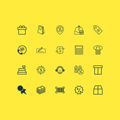 Commerce Icons Set. Collection Of Finance, Recurring Payements, Discount Coupon And Other Elements. Also Includes Symbols Such As Employee, Transfer, Marker.