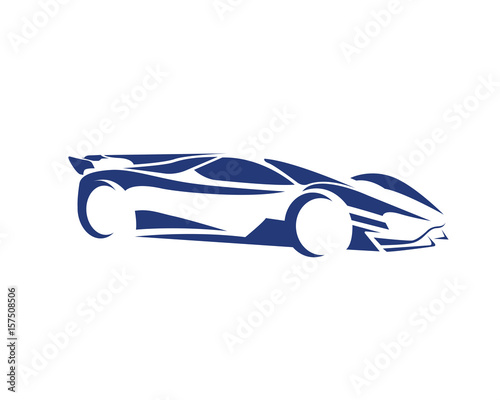 Modern Luxury Car Silhouette Logo Stock Image And Royalty Free