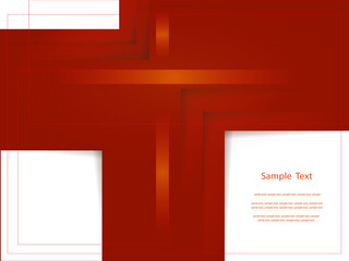 Abstract red report cover template design