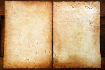 old papers texture on wooden background