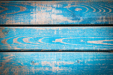 texture of old wooden surface blue. A blue wooden background
