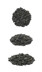 Pile of sunflowers seeds isolated