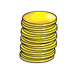 cartoon coin vector symbol icon design.