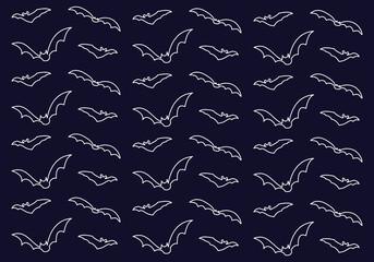 bats pattern illustration