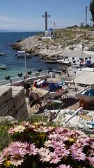 Photo in Marina Zeas port in Peiraeus, Attica, Greece
