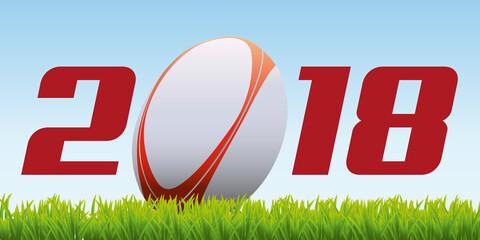 2018 - rugby - carte de vœux - vœux - sport - année - ballon - présentation