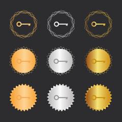 Schlüssel Geheimnis - Bronze, Silber, Gold Medaillen