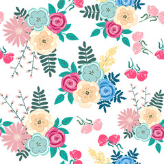 Beautiful lovely seamless floral pattern