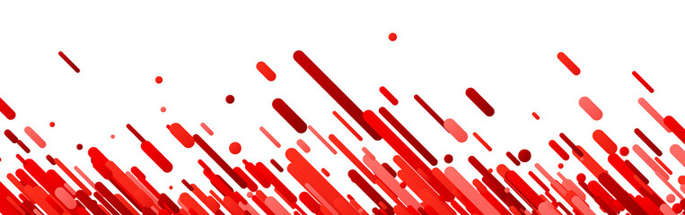 Red abstract banner on white.