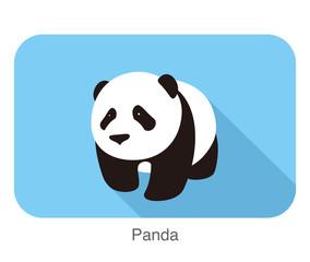 cute panda baby, flat design, vector illustrator