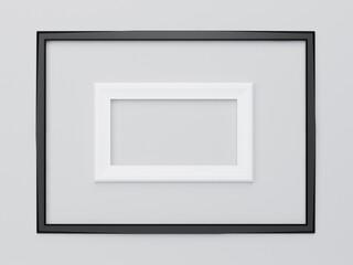 Realistic picture frames, render illustration