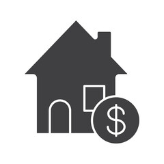 Real estate market glyph icon