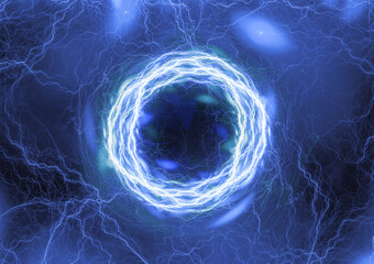 Abstract blue plasma, electric background