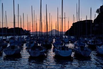 諸磯湾の夕日