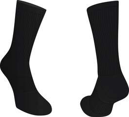 Sock front and back view vector