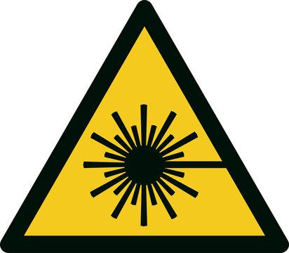 ISO 7010 W004 Warning; laser beam