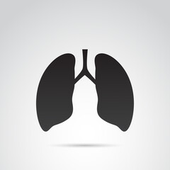 Lungs vector icon.