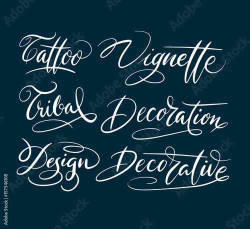 Tattoo And Vignette Hand Written Typography Good Use For Logotype