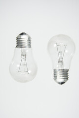Light bulb, isolated on white background. Incandescent lamp isolated. Lightbulbs on white.