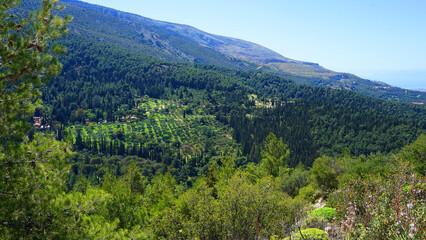 Photo of Kessariani area in Hymetus mountain, Attica, Greece