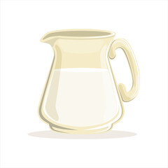 Milk in a glass jug vector Illustration