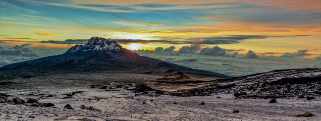 Sunrise from the slopes of Kilimanjaro (5.895 m) - Tanzania, East Africa