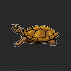turtle logo design template ,turtle head icon Vector illustration