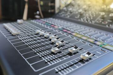 Sound music controller mixer control panel.