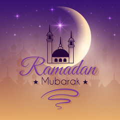 Ramadan Greeting Card for holy month
