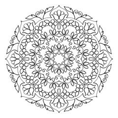 Floral Mandala Round Pattern