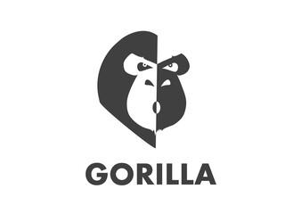 Gorilla Logo Illustration Design