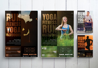 Fitness Flyer Layout Set 1