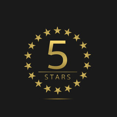 Five stars label