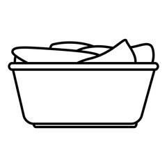 Tank for soaking in laundry vector illustration design
