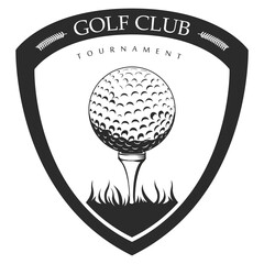 Isolated golf emblem